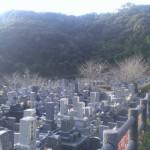 福岡市東区にある、福岡市営三日月山霊園にやってきました。