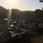 福岡市営平尾霊園にて現地確認の為、来園しました。