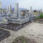 お墓リフォームが完成し、納骨式を行いました。
