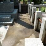 年間管理の墓所の清掃管理を行いました