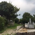 糟屋郡須恵町の地域墓地で、ご家族様と一緒に現地確認を行いました