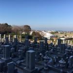 古賀市の寺院墓地、医王寺さんにやってきました