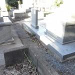 博多区東平尾 地域墓地 お墓周りのコンクリート工事の確認