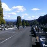 大野城市にある福岡中央霊園に文字彫刻の修繕へやってきました。