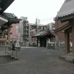 博多区にある寺院様。お墓の清掃のための現場確認へ