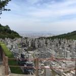 福岡市営西部霊園にて、お墓完成後のお引渡しにやってきました。