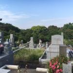 福岡市営の平尾霊園、お墓の修繕工事です。