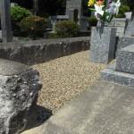 福岡市の平尾霊園にて。草抜き不要の工事が終了!