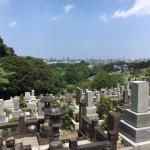 福岡市営平尾霊園にて、追加文字彫刻の為の現地確認を行いました