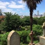日本石材産業協会の研修、横浜外国人墓地、キリスト教のお墓見学に