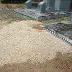 福岡県嘉麻市の地域墓地にて、お墓じまい工事が完了です。お墓の棹石と灯篭を残してのお墓じまい、ホームページからのお問い合わせ