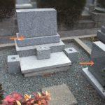 須恵町のお寺様墓地で、洋型墓石部分、墓誌の取り外しと処分が完了