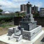 福岡市博多区竹下の墓地にて、色入れ・クリーニングや目地入れ、地上納骨室へのリフォーム。できるだけ以前の石を使用して