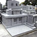 宗像ルンビニー墓苑にて、中国産G-688白御影を使用した、神道の兜巾型を取り入れた洋風のお墓が完成いたしました。