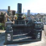 糟屋郡須恵町の南米里墓地にて、お墓の建立をさせていただきました。G654グレー御影、細部までこだわった豪華で美しいお墓
